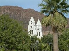 Passing by the Cathedral in Guaymas.