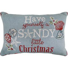 VINTAGE HOUSE brings style and comfort to your home. This cotton fabric pillow is super soft and add just the right amount of comfort to any chair or sofa. Stylish nautical design accents your holiday home decor. Measures approximately 9''W x 13''L.
