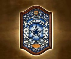 Dallas Cowboys Stained Glass Wall Decor, from the Bradford Exchange Denver Broncos Womens, Denver Broncos Football, Nfl Dallas Cowboys, Broncos Memes, Cowboys Helmet, Wall Decor Lights, How Bout Them Cowboys, Outdoor Wall Art, Bradford Exchange