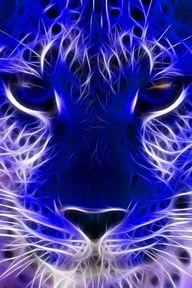 Blue tiger using fractal art Fractal Images, Fractal Art, Blue Tigers, Art Original, Foto Art, Tier Fotos, Belle Photo, Big Cats, Shades Of Blue