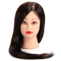 Hair Extensions & Wigs Wig Stands Synthetic Mannequin Head Female Hair Head Doll 22 Inches Mannequin Doll Head Hairdressing Training Heads Styling With Fiber Aesthetic Appearance