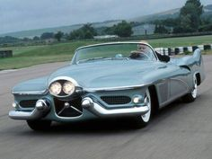 1951 Buick LeSabre concept with the headlights out