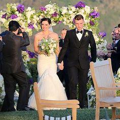 Nick Carter marries Lauren Kitt in Santa Barbara, Calif., on April 12, 2014.   We love the floral design! We can help make your big day star-worthy! www.reve-events.com