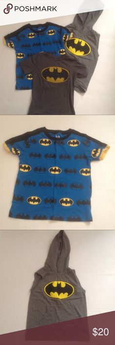 Set of 3 Batman Shirts Set of 3 Batman shirts. All size 4T. Grey shirt sleeves from Old Navy, other 2 unknown brand. Sold as a set. Old Navy Shirts & Tops Tees - Short Sleeve