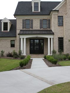 Brick Exterior Design, Pictures, Remodel, Decor and Ideas - page 8