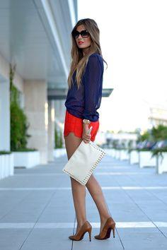 BLUE & RED | Mi aventura con la moda