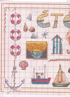 Gallery.ru / Фото #90 - крест - Yra3raza Beach Cross stitch chart - left side