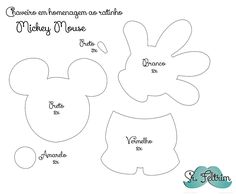 srfeltrim | Chaveiro em homenagem ao Mickey com molde gratuito e PAP em vídeo