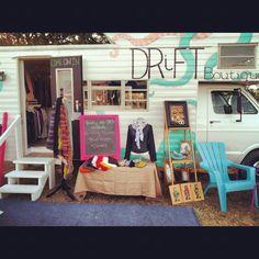 Drift Mobile Boutique More: Mobile Boutique, A Boutique, Boutique Ideas, Mobile Bar, Mobile Shop, Caravan Shop, Vintage Camper Interior, Mobile Business, Vans Shop