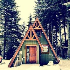 A-frame cabins around the property for guests to have their own adventure.
