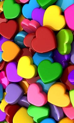 Valentines Day Colorful hearts