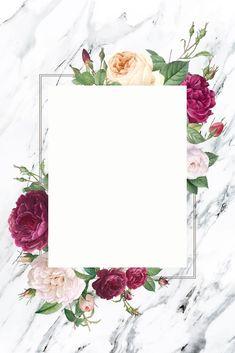 10 vectors to make your invitation card. Framed Wallpaper, Flower Background Wallpaper, Flower Backgrounds, Wallpaper Backgrounds, Iphone Wallpaper, Frame Background, Fond Design, Mises En Page Design Graphique, Instagram Frame Template