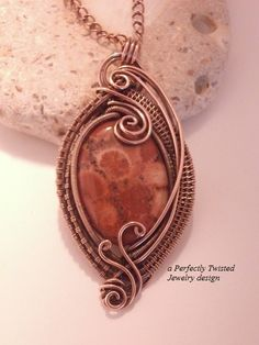 Sold! Wire Wrapped Reversible Pendant Necklace by PerfectlyTwisted