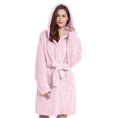 Halat de baie Sleepyhead Roz #bathroom #bathrobe #pink #cotton Textiles, Unisex, Candy Colors, Cosy, Snug, Pink, Dressing, Gowns, Fashion Outfits