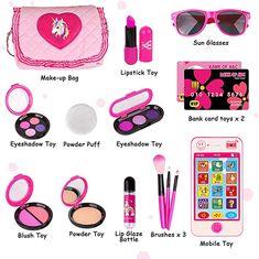 makeup kit for kids gift ideas - makeup kit for kids & makeup kit for kids gift ideas Little Girl Makeup Kit, Makeup Kit For Kids, Kids Makeup, Makeup Toys, Makeup Set, Makeup Stuff, Makeup Products, Toddler Gifts, Toddler Toys