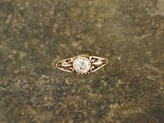 Diamond and 14K Gold Ring by peteconder on Etsy
