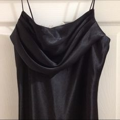 "Beautiful Little Black Bust Ruffled Dress Karina Nites. Black 100% polyester strap ruffled bustline dress. Size 8. Underarm to hem 35"". Excellent condition. Super nice dress! Karina nites Dresses Midi"
