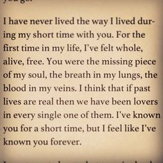 Andrew's Letter to Camryn ♡ The Edge of Never by J. A. Redmerski ♡ #Books