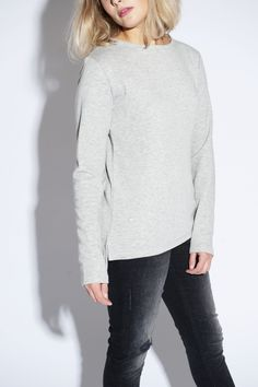 Lou Grey Melange Sweater http://www.yunit-studio.com/shop/lou-grey-melange