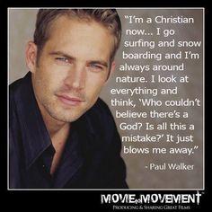 Paul Walker quote...