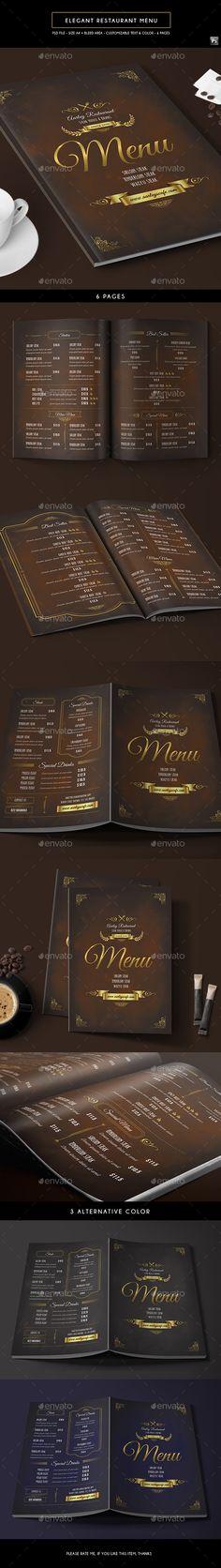 Michelin Stars Restaurant Menu Pinterest Menu templates, Food