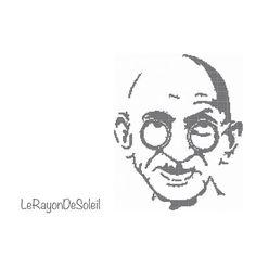 Cross stitch pattern Indira Gandhi silhouette on Etsy, 3,00€