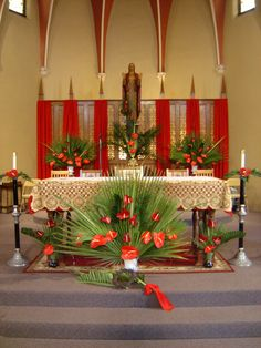 The Church uses red on Palm Sunday to symbolize Christ's upcoming passion and death, as well as God's love for humanity. The clergy wears re...