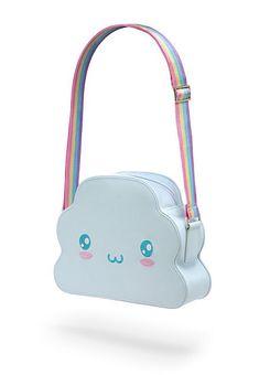 ThinkGeek :: Rainbow Cloud Handbag - How To Fashion Harajuku Fashion, Kawaii Fashion, Cute Fashion, Fashion Bags, Kawaii Bags, Kawaii Clothes, Kawaii Cute, Kawaii Style, Kawaii Accessories