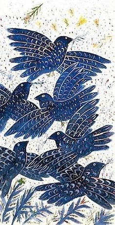 Blue Birds - Counted cross stitch pattern in PDF format by Maxispatterns on Etsy Cross Stitch Designs, Cross Stitch Patterns, Minoan Art, Greek Paintings, Intermediate Colors, Cross Stitch Supplies, Art Et Illustration, Greek Art, Ancient Art