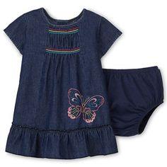 Okie Dokie® Denim Dress – Girls newborn-24m - jcpenney