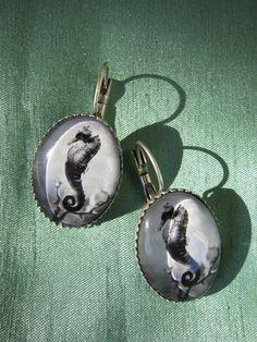Seahorse earrings jewelry