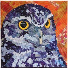 "Oliver, 20 x 20"", by Barbara Yates Beasley   art quilt"