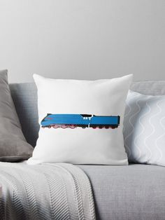 """""""A4 (Mallard) Blue Livery LNER"""" Throw Pillows by ontherails 
