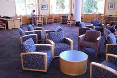 Soft seating in quiet study area by Greg_Careaga, via Flickr