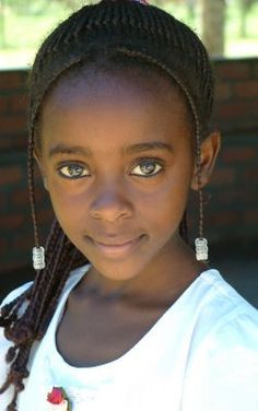 Young Girl, Zambia  So cute! <3