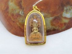 Necklace Prayer Bead Gold Color Wat Phra Kaew 8 MM 30 Inches Rare Thai Amulet.2C