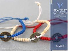 29 février , jour de chance? Bracelet #portebonheur #perles #pièce - 4,90€ - seulement sur www.beknitdesign.com Plusieurs coloris pour tous les goûts