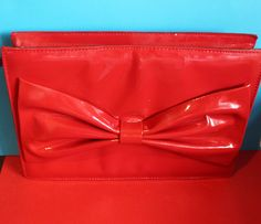 Made in Italy. Red Clutch, How To Make Handbags, Big Bows, Cherry Red, Beautiful Bags, Leather Handbags, Red Leather, Dress Shoes, Shoes Heels