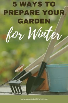 5 Ways to Prepare your Garden for Winter - your ultimate guide for what to do over winter to keep your garden manageable and ready for spring. #gardeningtips #garden #wintergarden