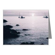 Pale Blue Coastal Dawn Note Cards (Pk of 10) on CafePress.com