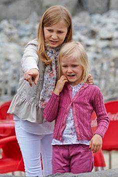 (L) Princess Elisabeth and Princess Eleonore of Belgium visit Sealife on 12,07.2014 in Blankenberge, Belgium.