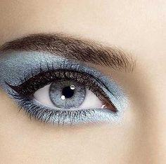 maquillaje de ojos plateado y azul - Buscar con Google