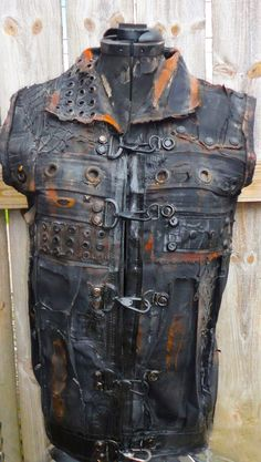 Post Apocalyptic Wasteland Raider Distressed vest by TheFaction, $125.00