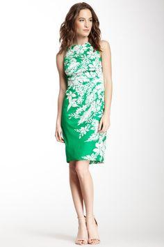Anne Klein Side Pleated Sheath Dress on HauteLook