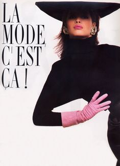 Christy Turlington in YSL for Vogue 1987