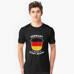 """Germany Ancestry"" T-shirt by favorite-shirt Germany Shirt, Ancestry, Tees, Mens Tops, T Shirt, Fashion, Supreme T Shirt, Moda, T Shirts"