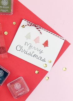 DIY Quick Stamped Christmas Card - Happiness is...Creating...