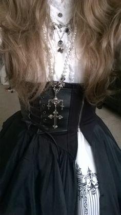 Augenklappe aus Spitze   Gothic Steampunk WGT Larp Lolita oriental Burlesque NEU