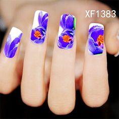 1Pcs Chic Flower Nail Art Water Decals Transfer Stickers Splendid Water Decals Sticker XF1383
