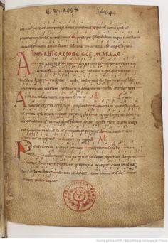 I love all of the old music. Graduale et prosarium ad usum Cluniacensem 0975-1100 folio 1r